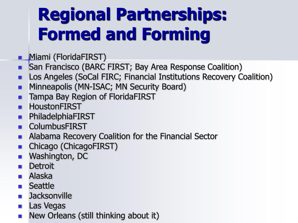 Regional Partnerships: