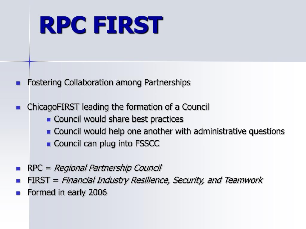RPC FIRST