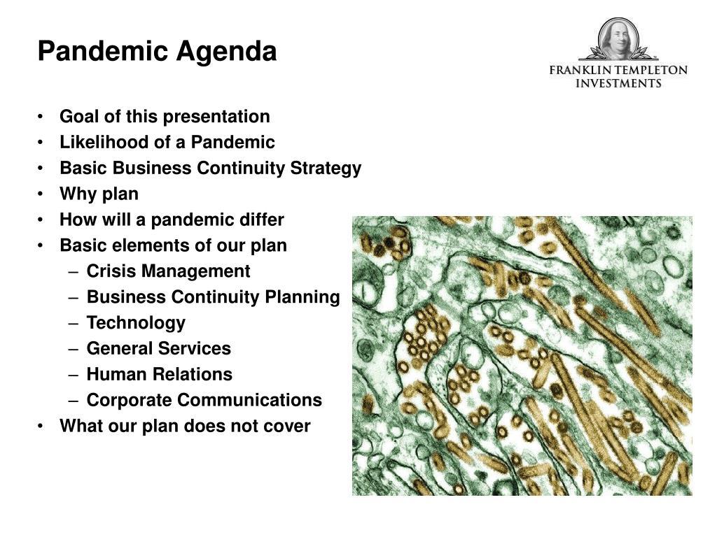 Pandemic Agenda