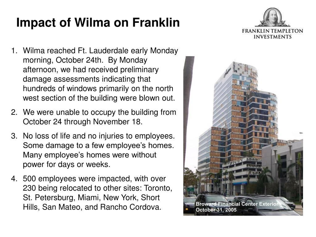 Impact of Wilma on Franklin