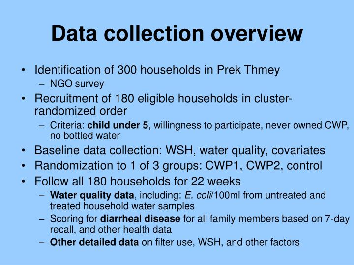 Data collection overview