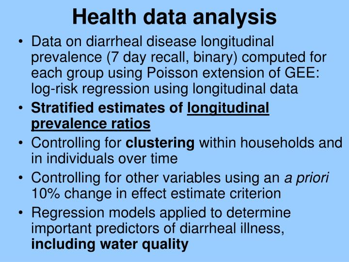 Health data analysis