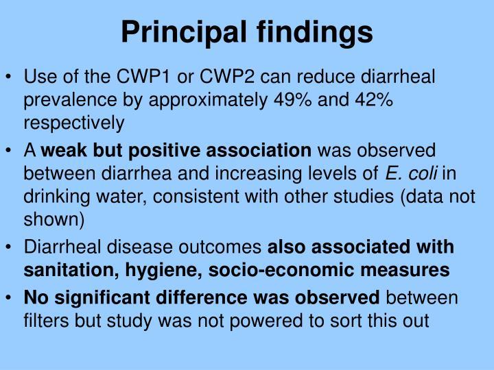 Principal findings