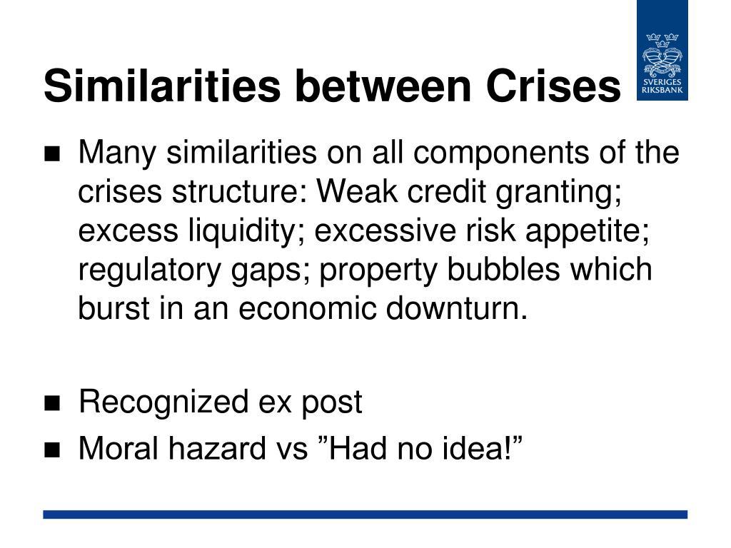 Similarities between Crises