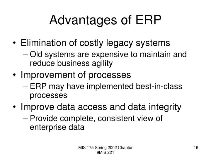 erp advantages and disadvantages pdf