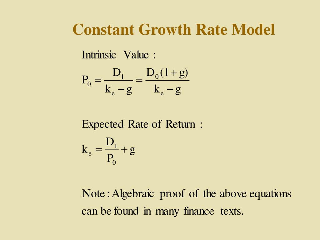 Constant Growth Rate Model