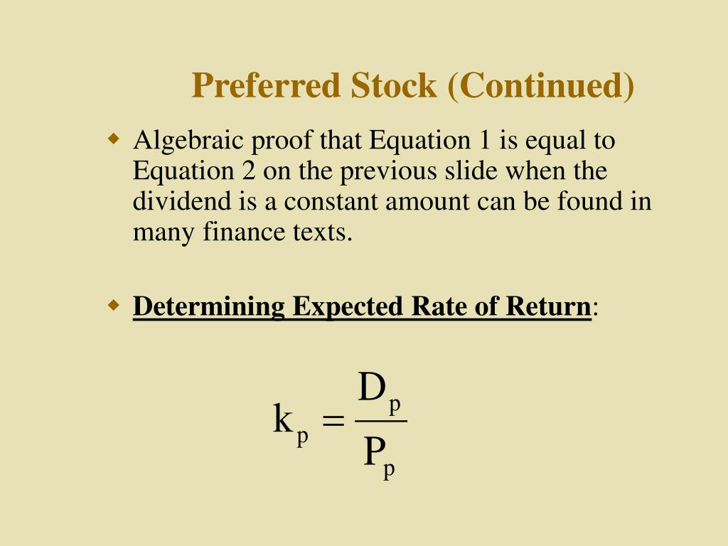 Preferred Stock (Continued)