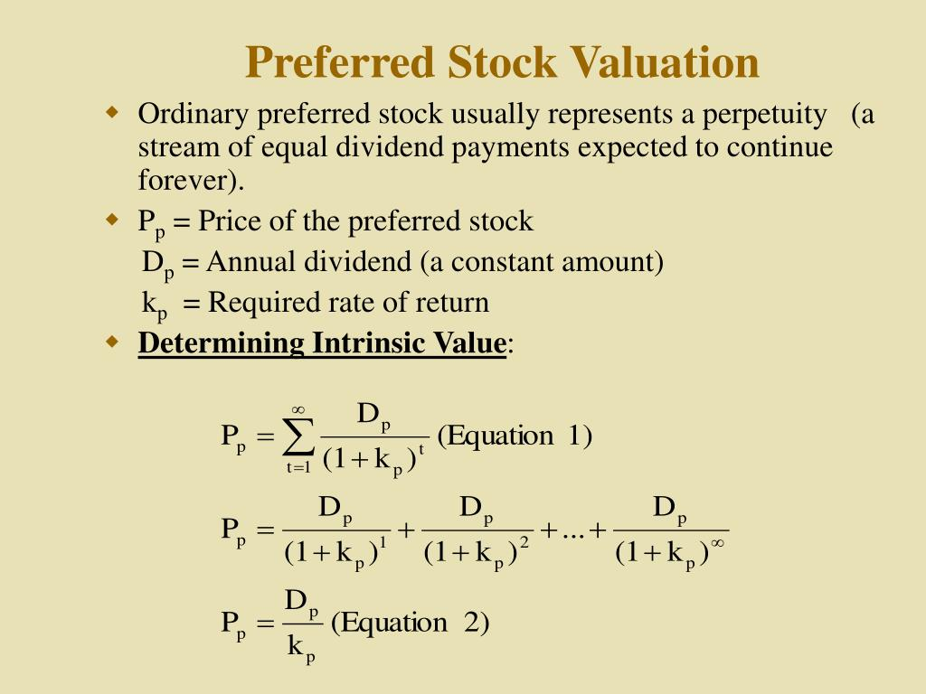 Preferred Stock Valuation