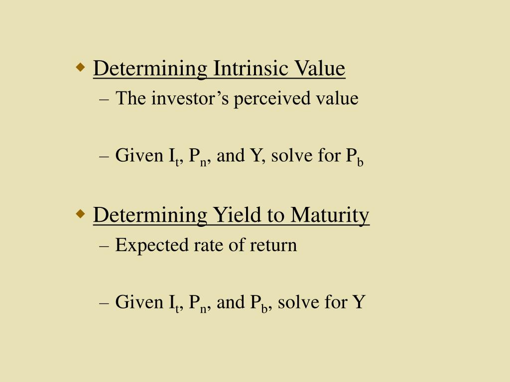 Determining Intrinsic Value
