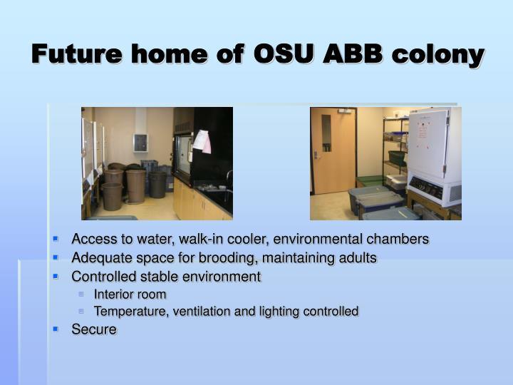 Future home of OSU ABB colony
