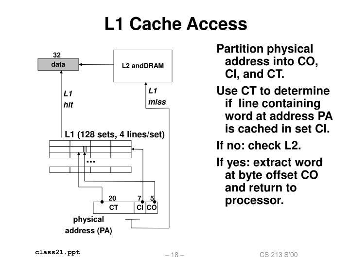 L1 Cache Access