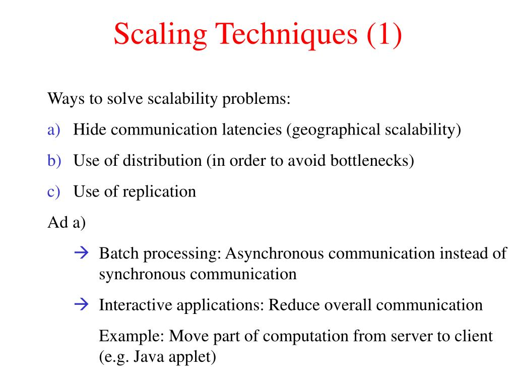 Scaling Techniques (1)
