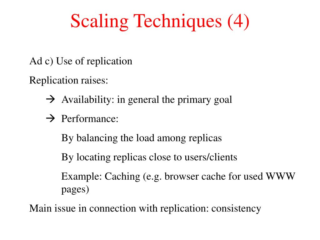 Scaling Techniques (4)