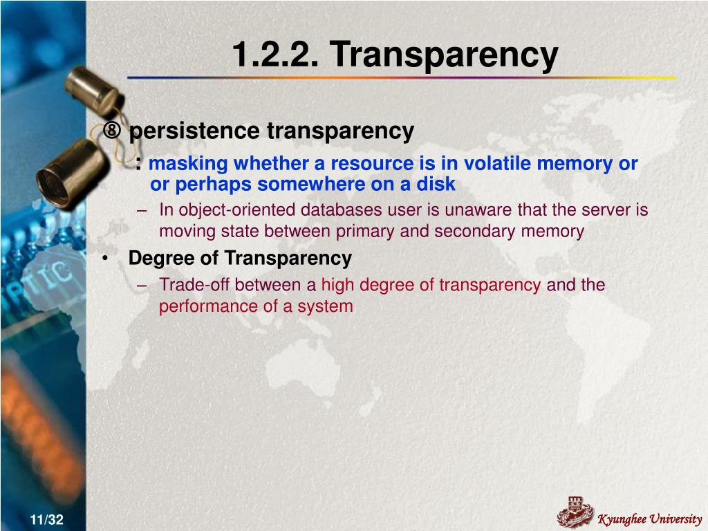 1.2.2. Transparency