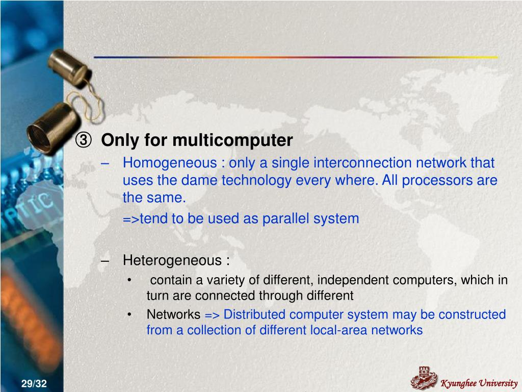 Only for multicomputer