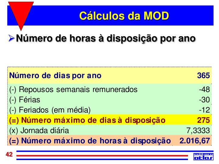 Cálculos da MOD