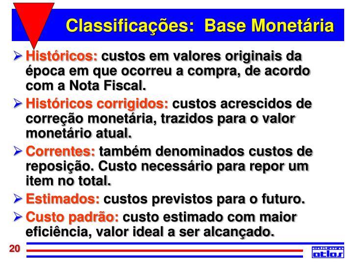 Classificações:  Base Monetária