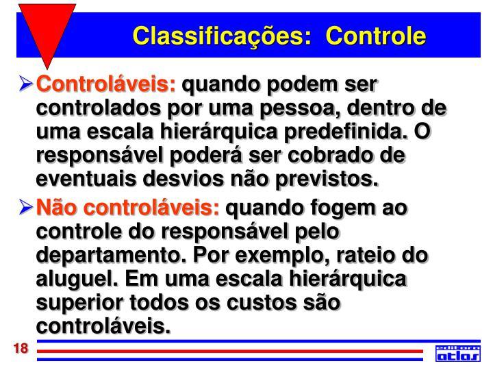 Classificações:  Controle