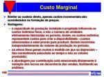 custo marginal