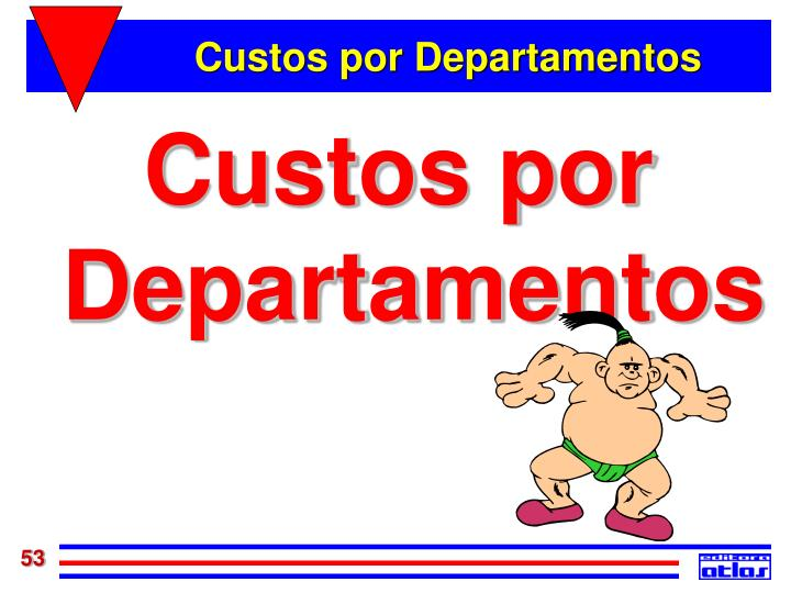 Custos por Departamentos
