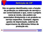defini o de cif