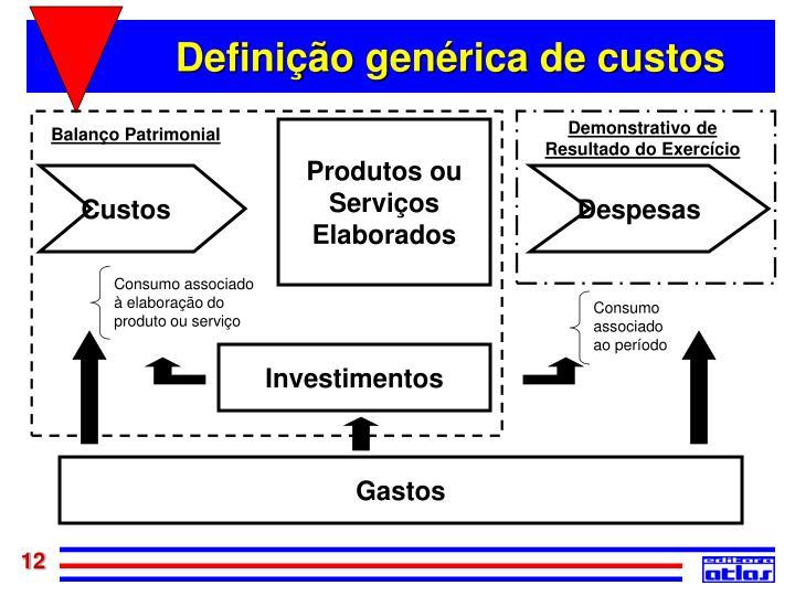 Definição genérica de custos