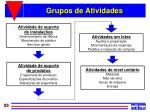 grupos de atividades