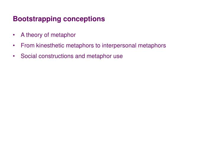Bootstrapping conceptions