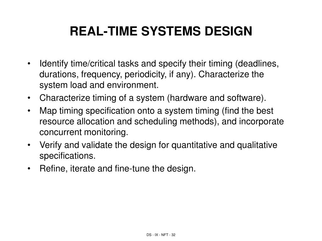 REAL-TIME SYSTEMS DESIGN
