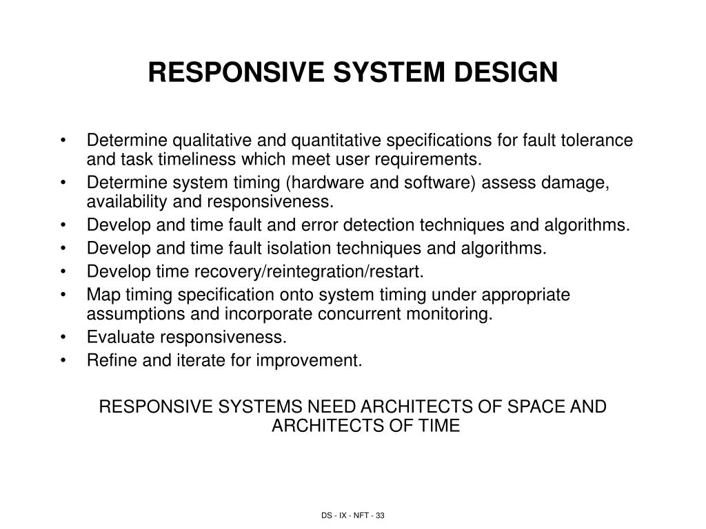 RESPONSIVE SYSTEM DESIGN