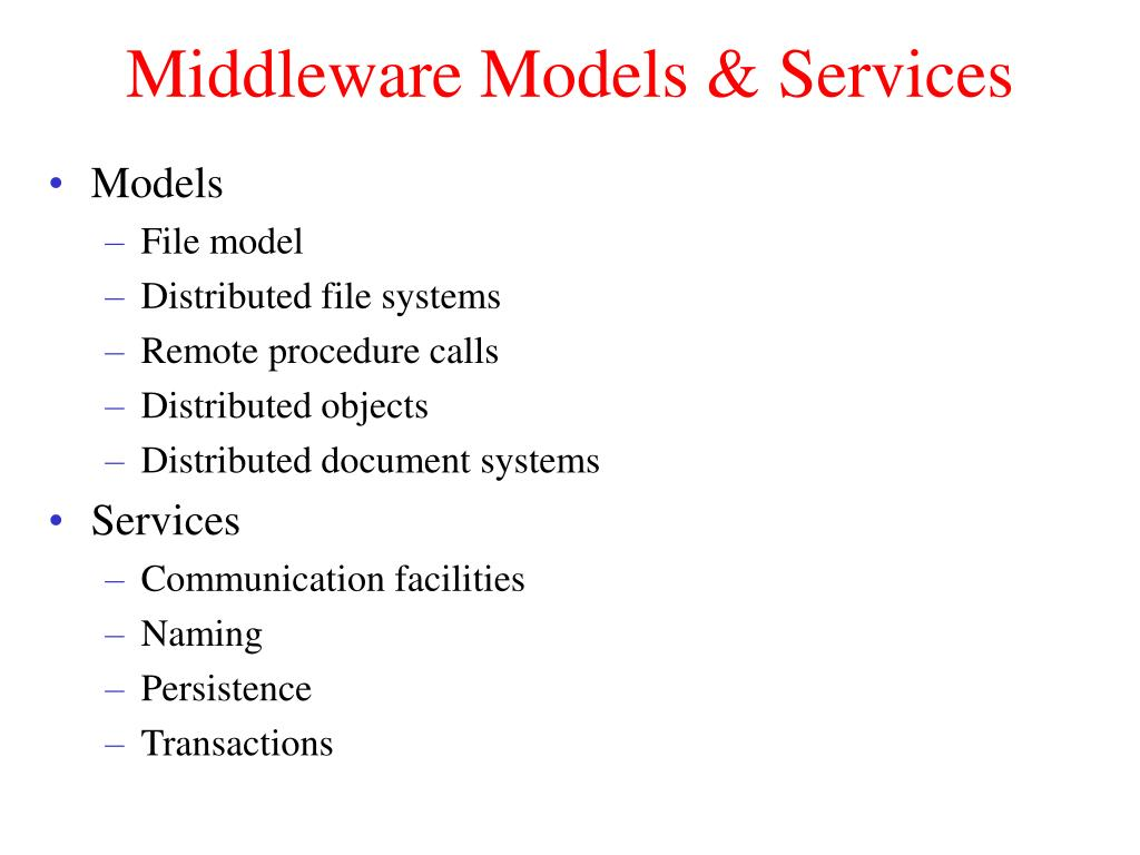 Middleware Models & Services