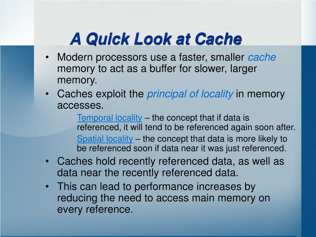 A Quick Look at Cache