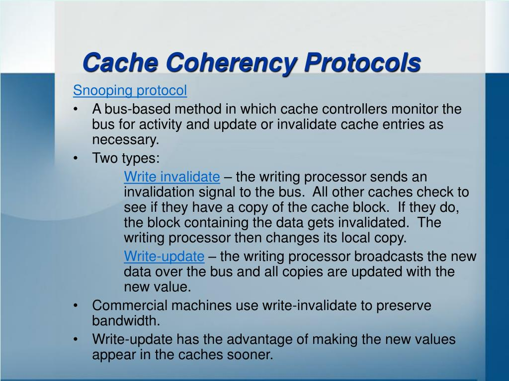 Cache Coherency Protocols