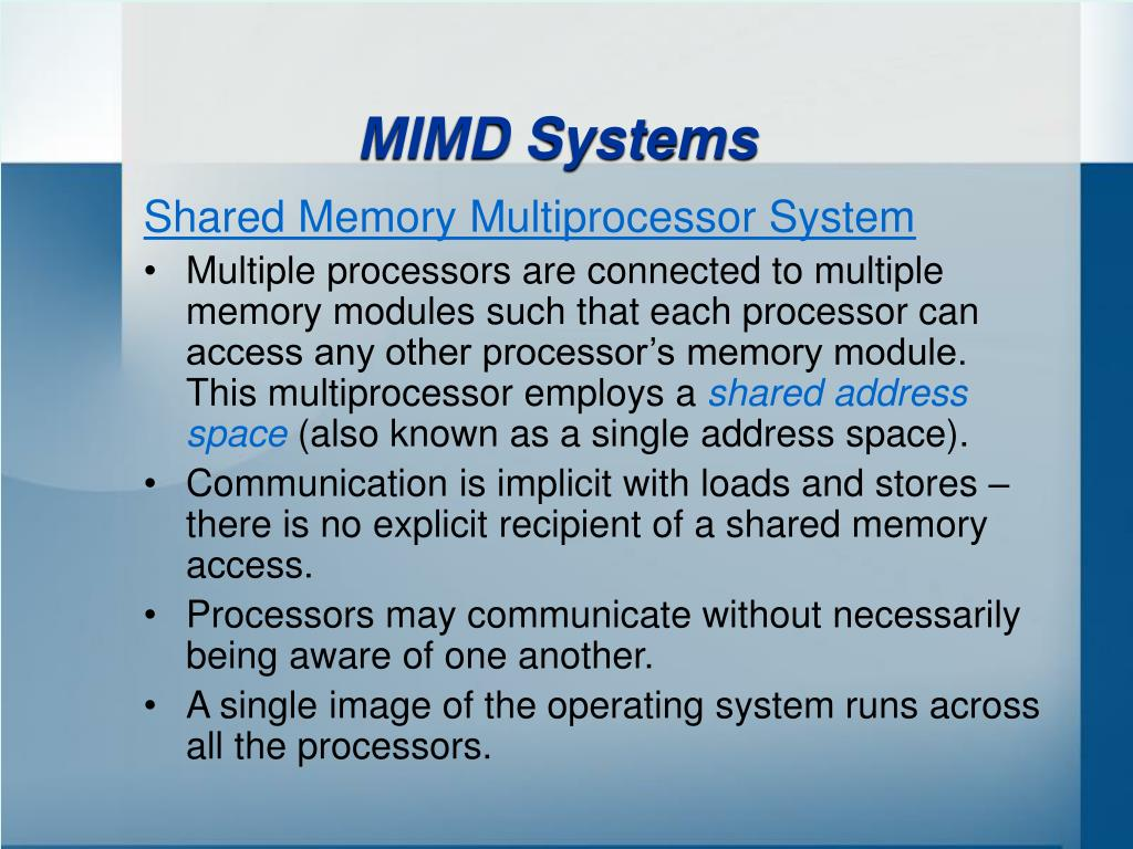 MIMD Systems