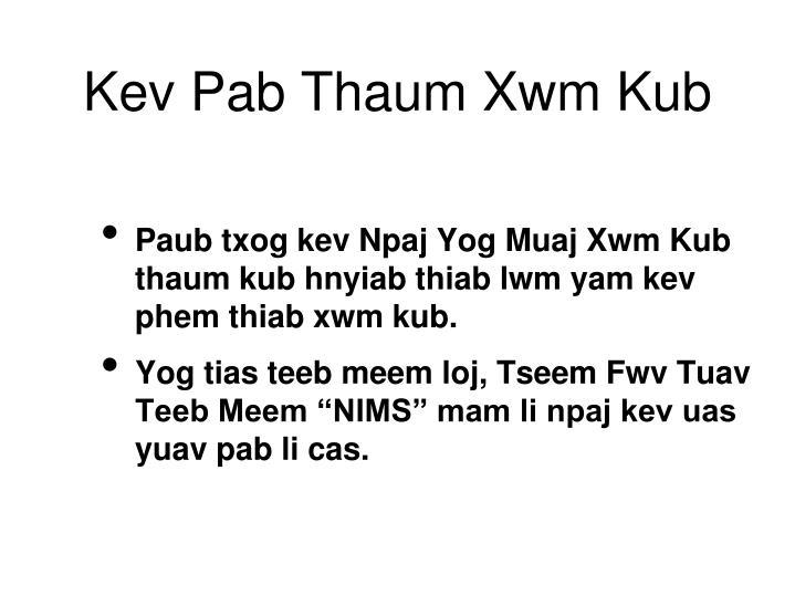 Kev Pab Thaum Xwm Kub