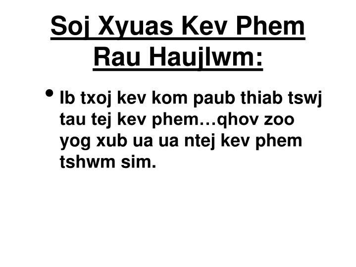 Soj Xyuas Kev Phem Rau Haujlwm: