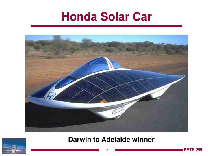 Honda Solar Car