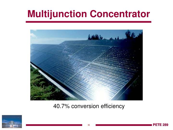 Multijunction Concentrator