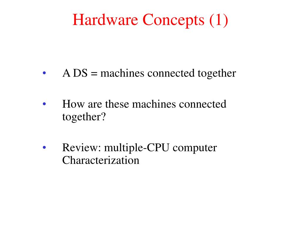 Hardware Concepts (1)