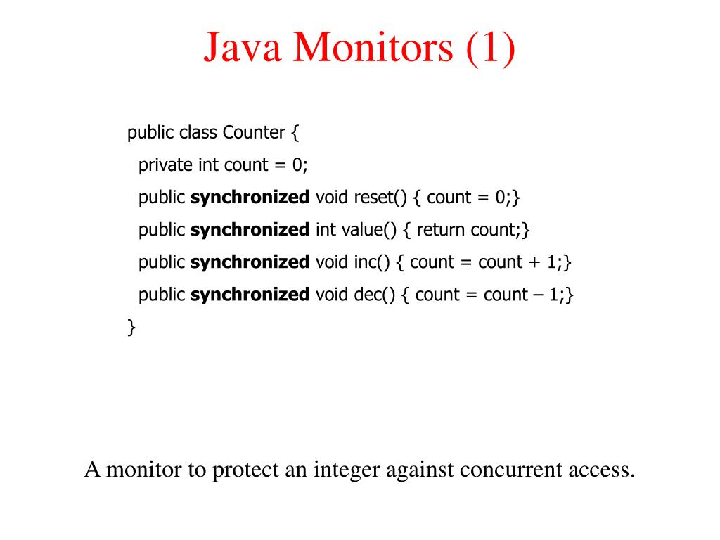 Java Monitors (1)