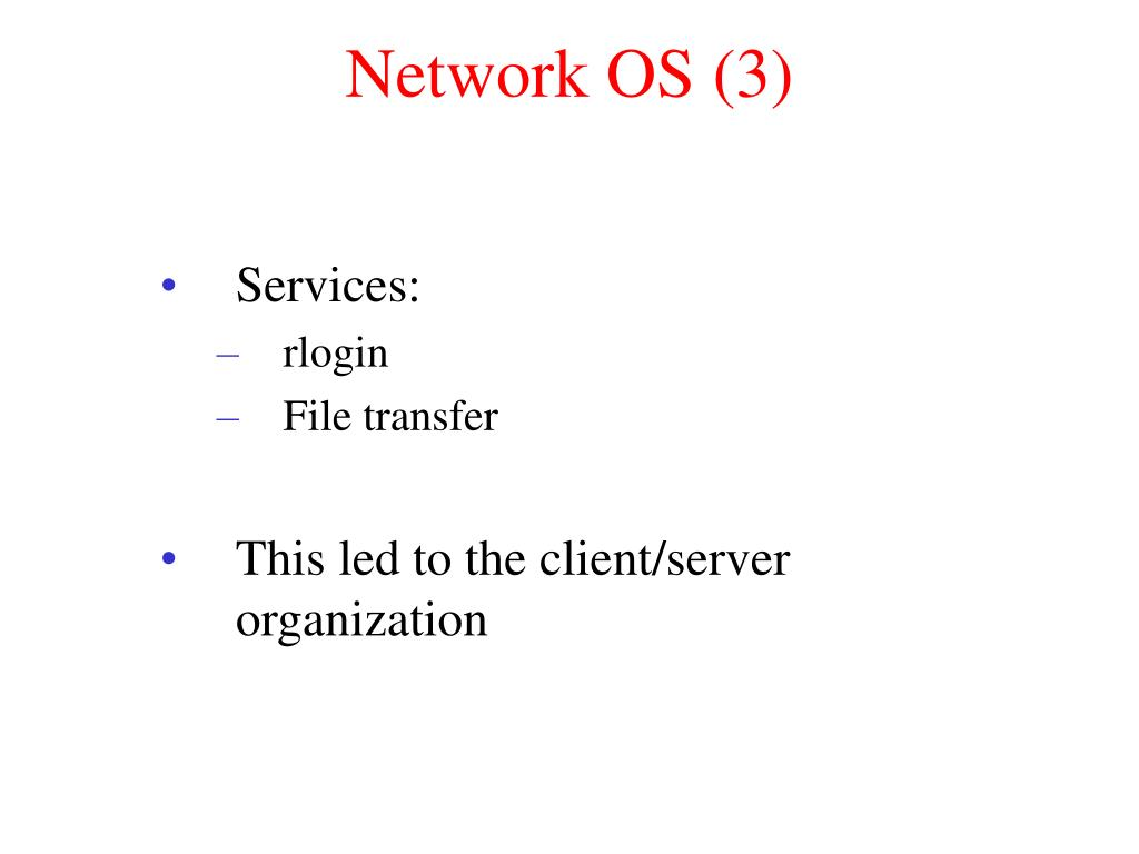 Network OS (3)
