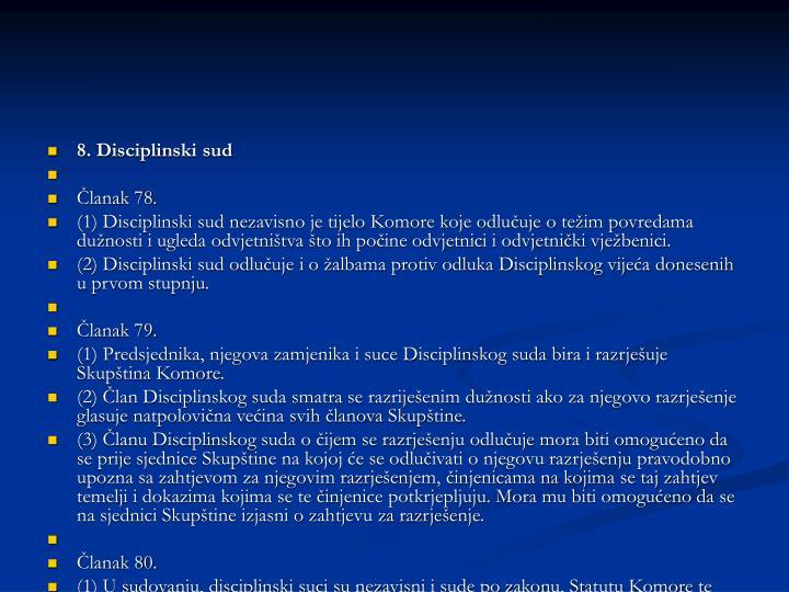 8. Disciplinski sud