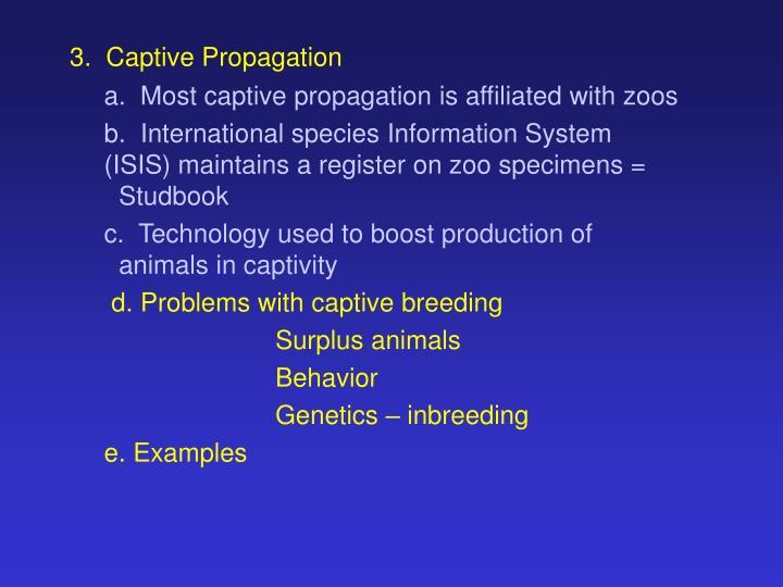3.  Captive Propagation