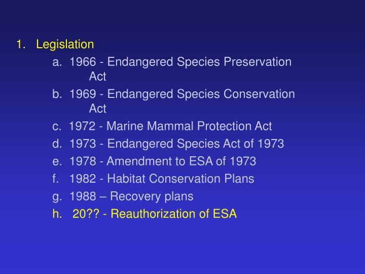 1.Legislation