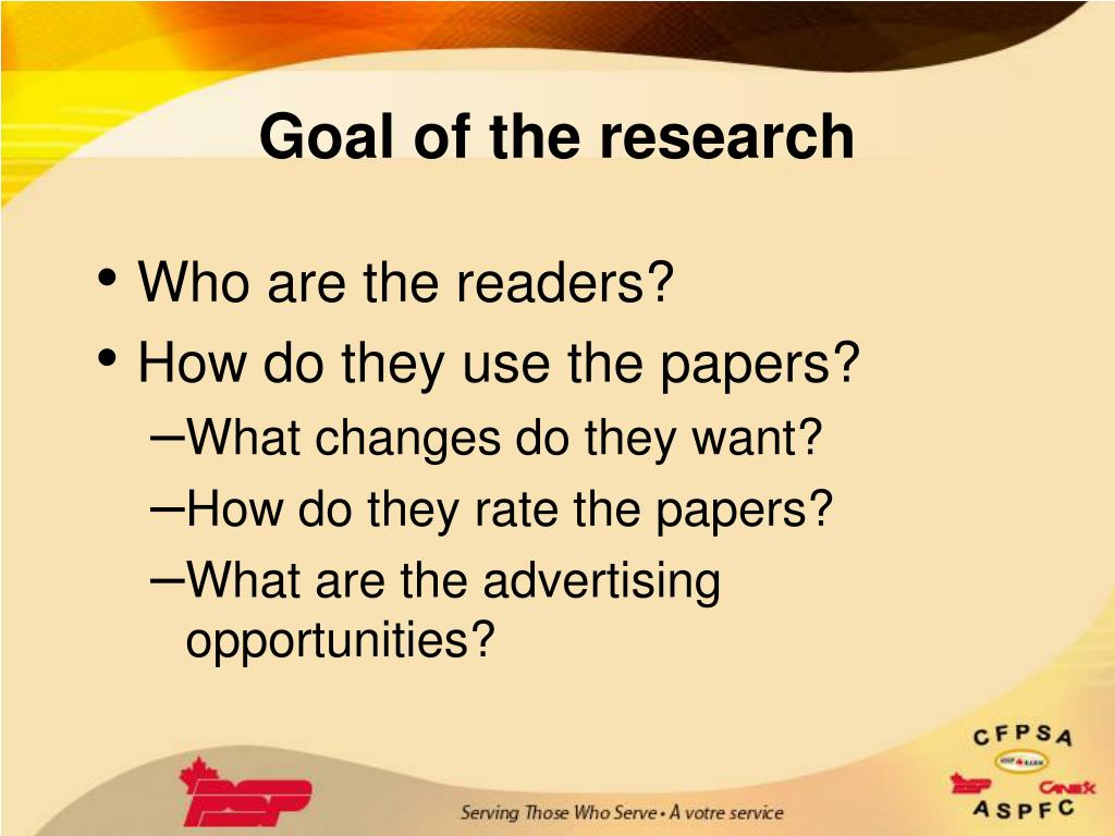 Goal of the research