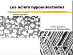 les aciers hypoeutectoides