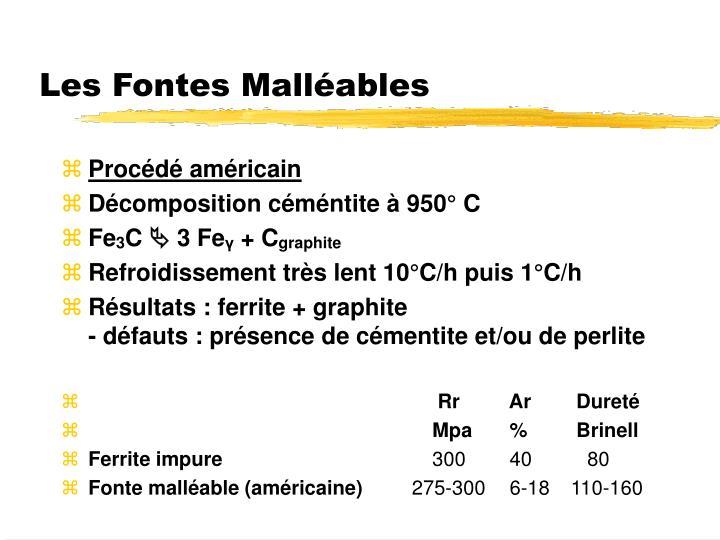 Les Fontes Malléables
