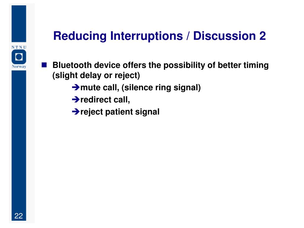 Reducing Interruptions / Discussion 2
