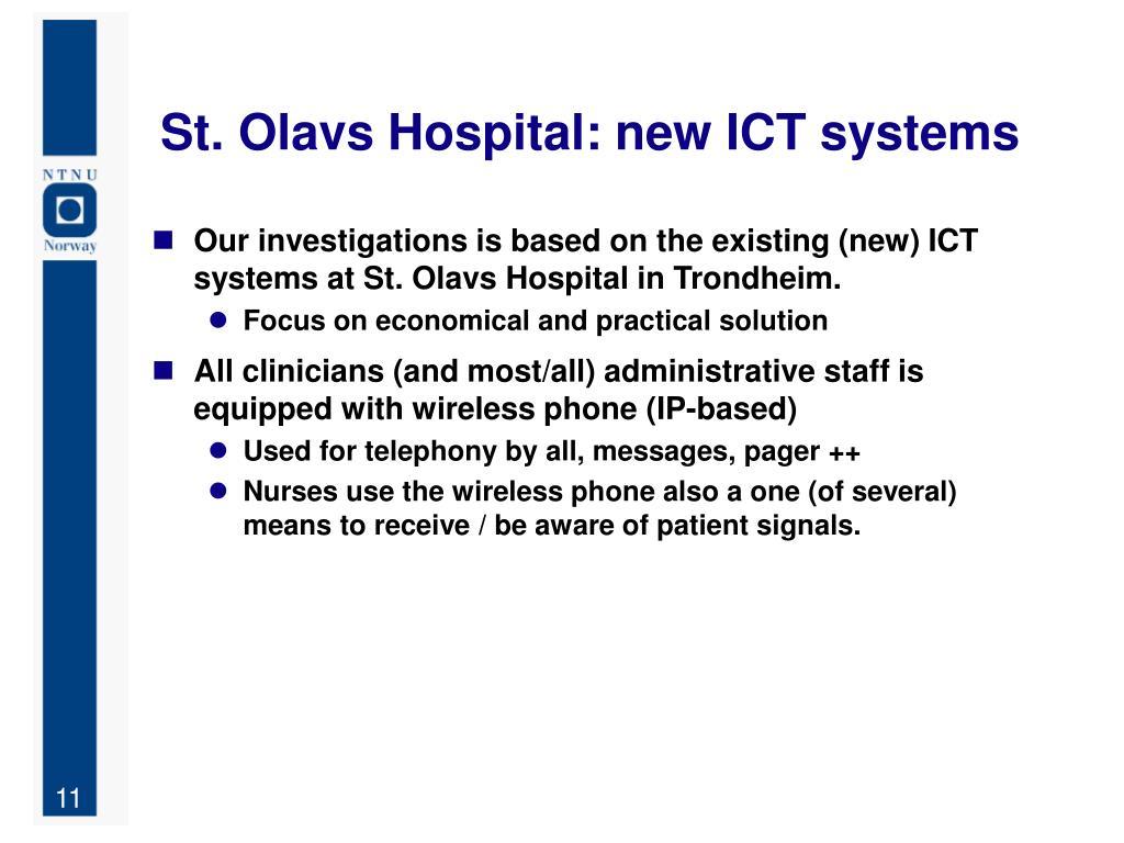 St. Olavs Hospital: new ICT systems