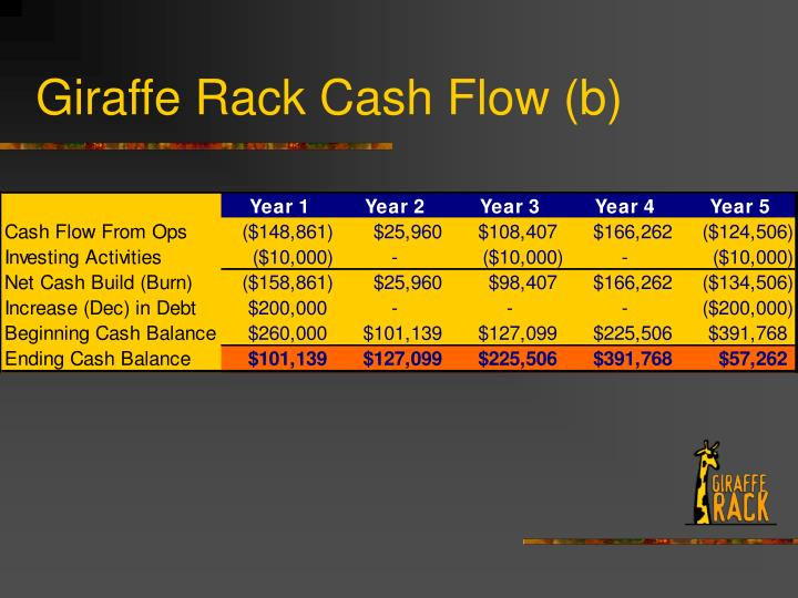 Giraffe Rack Cash Flow (b)
